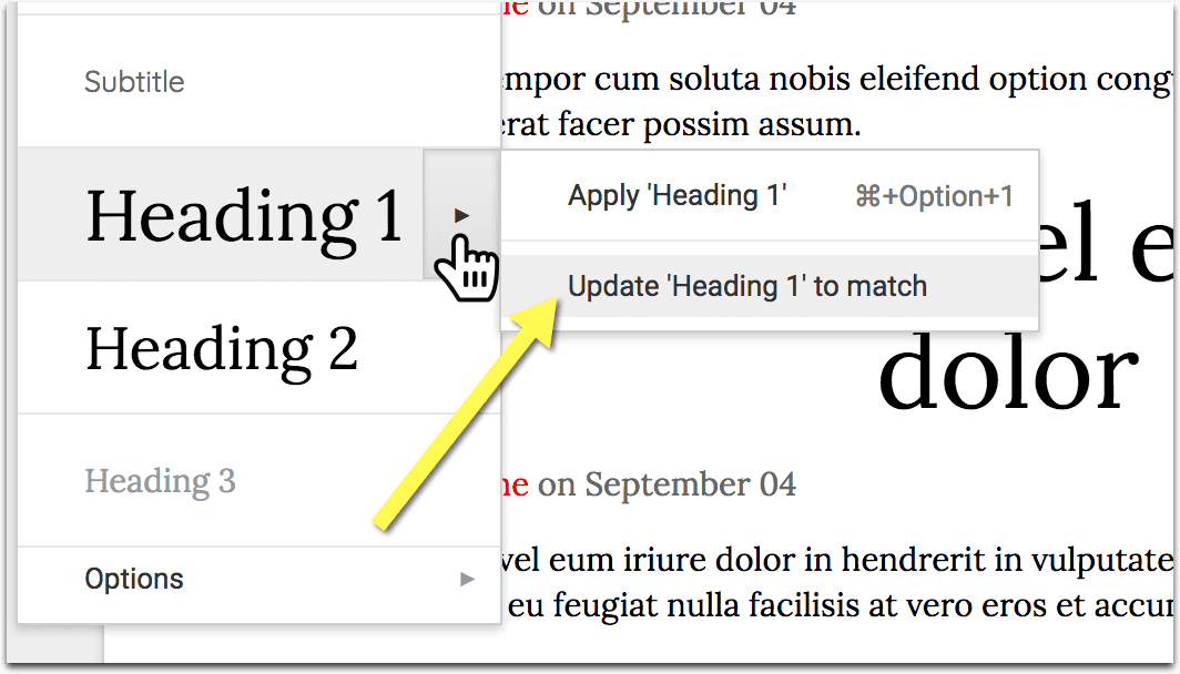 Create eBook update styles