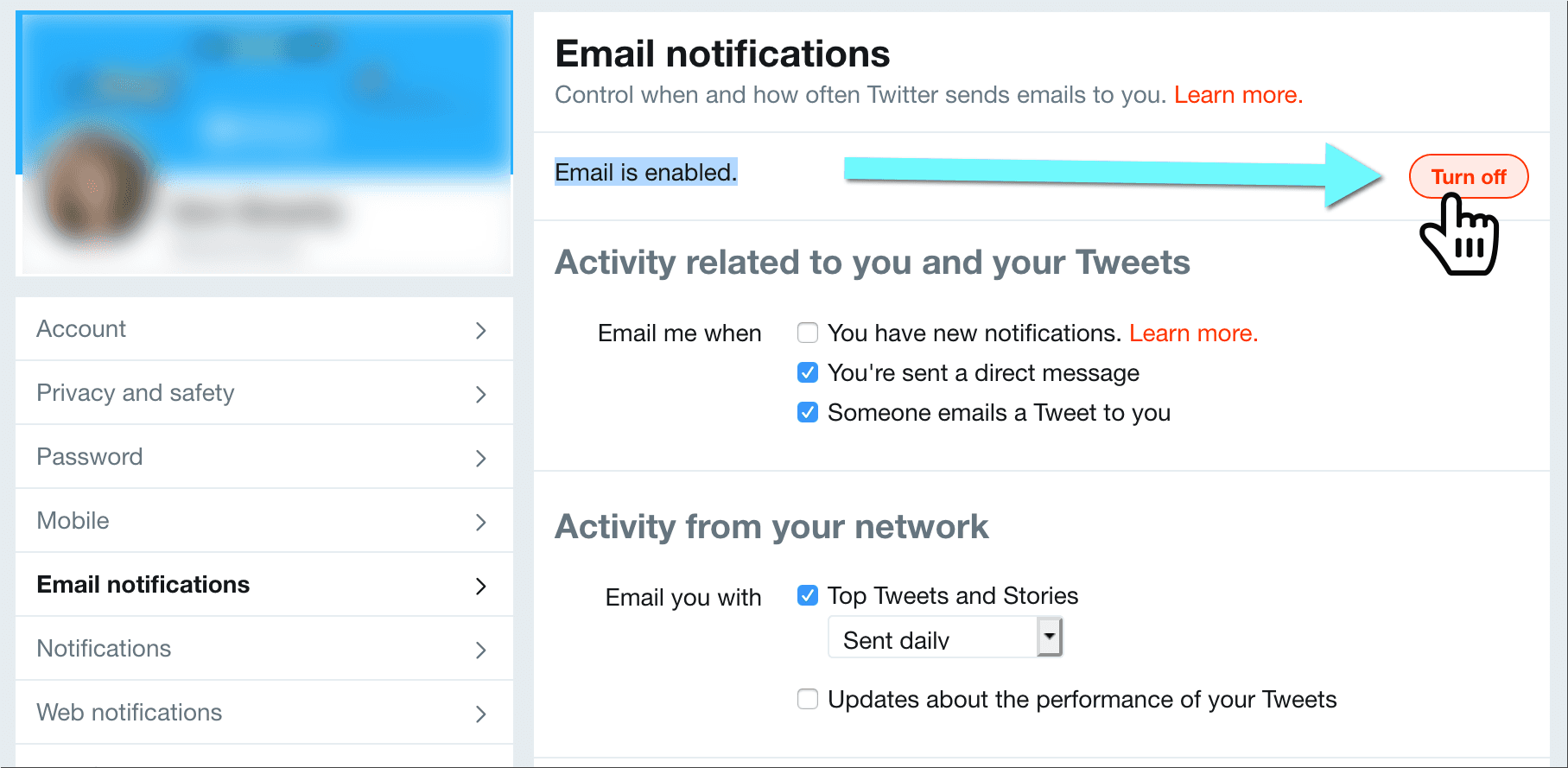 How to Stop Getting Emails from Twitter on a Desktop Browser