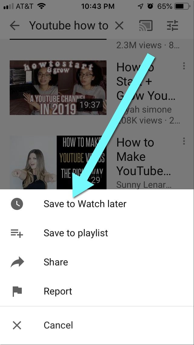 add any video from search results