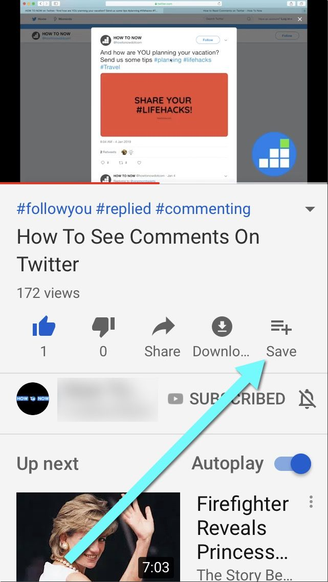 add videos to Youtube watch later on mobile