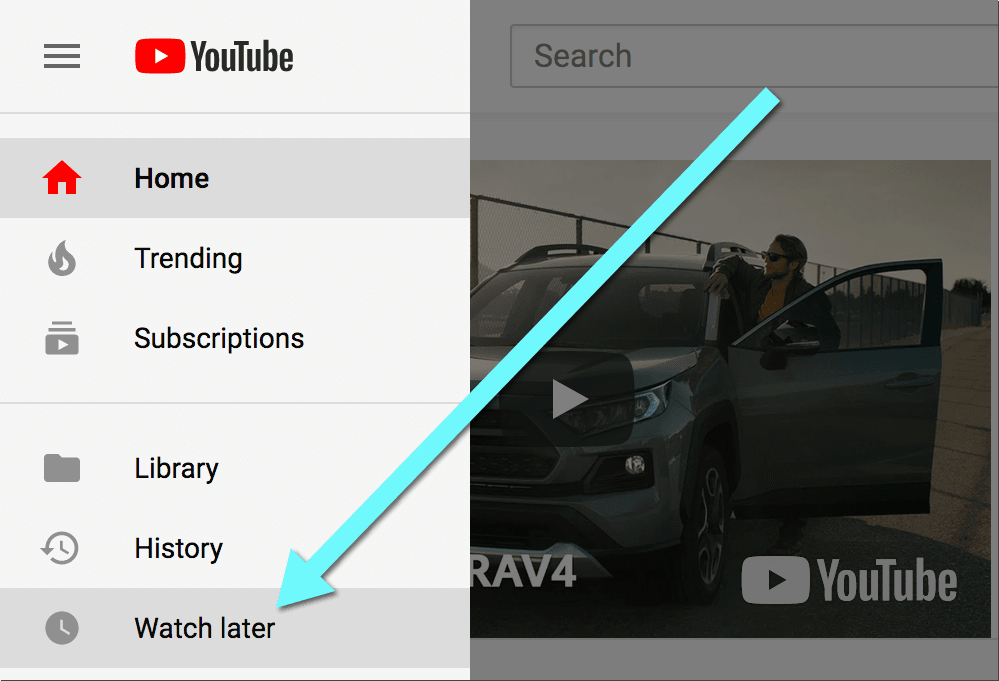 How to get to your Youtube watch later on desktop