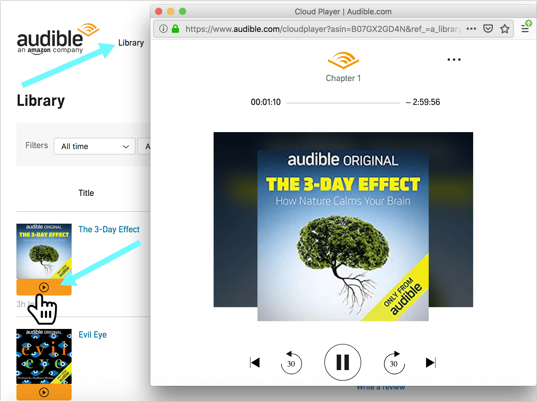 Audible Cloud Player: How to Listen to Audiobooks on Mac and