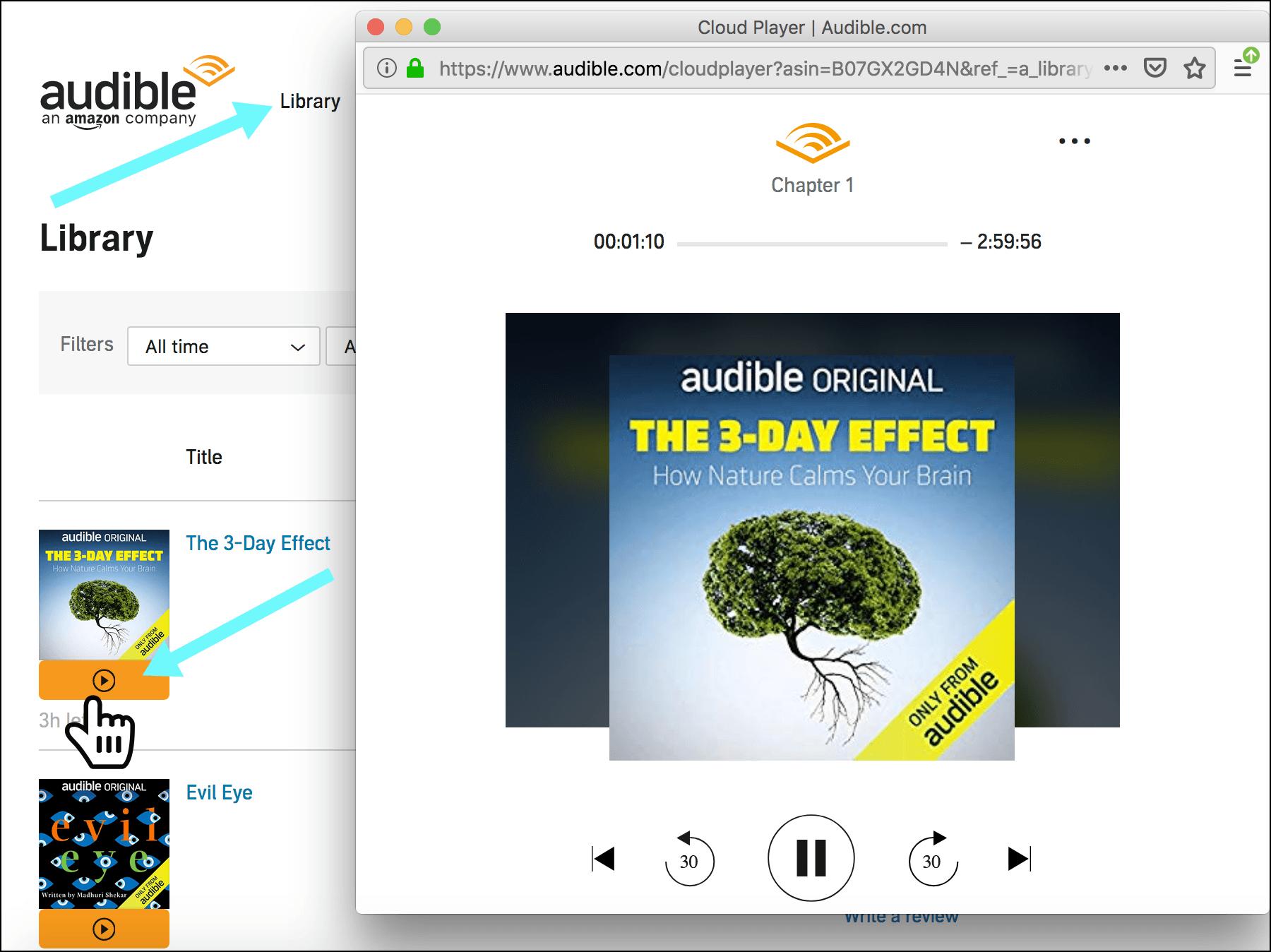 get Audible Cloud Player
