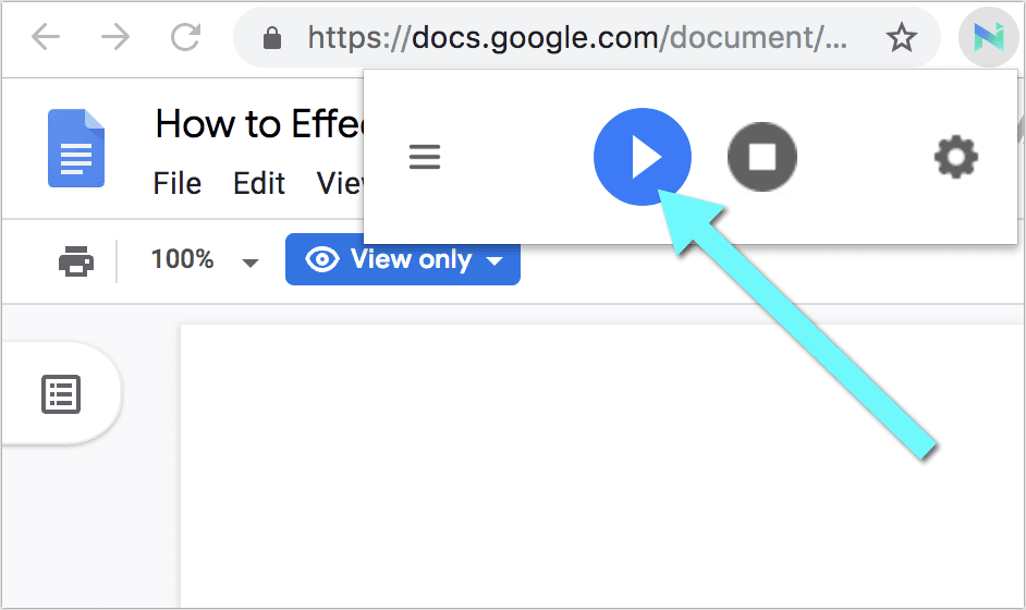 Google Docs text to speech