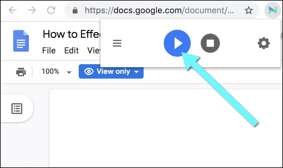 Google Docs text to speech