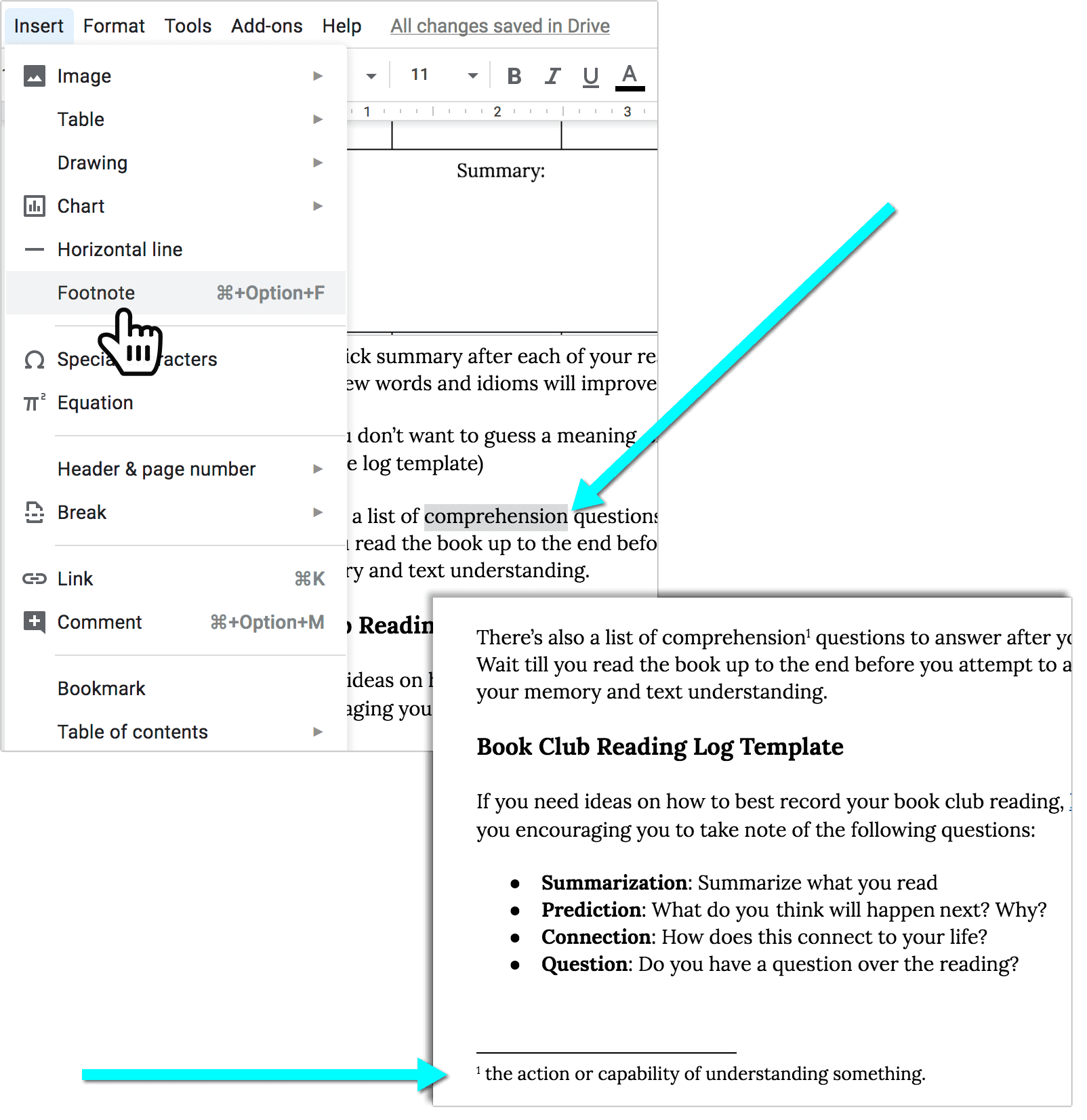 How to Add Footnotes in Google Docs