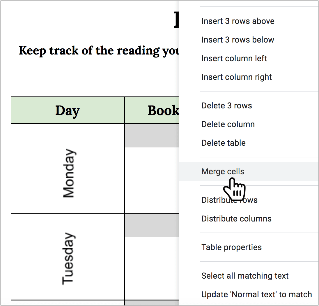 Reading log for adults