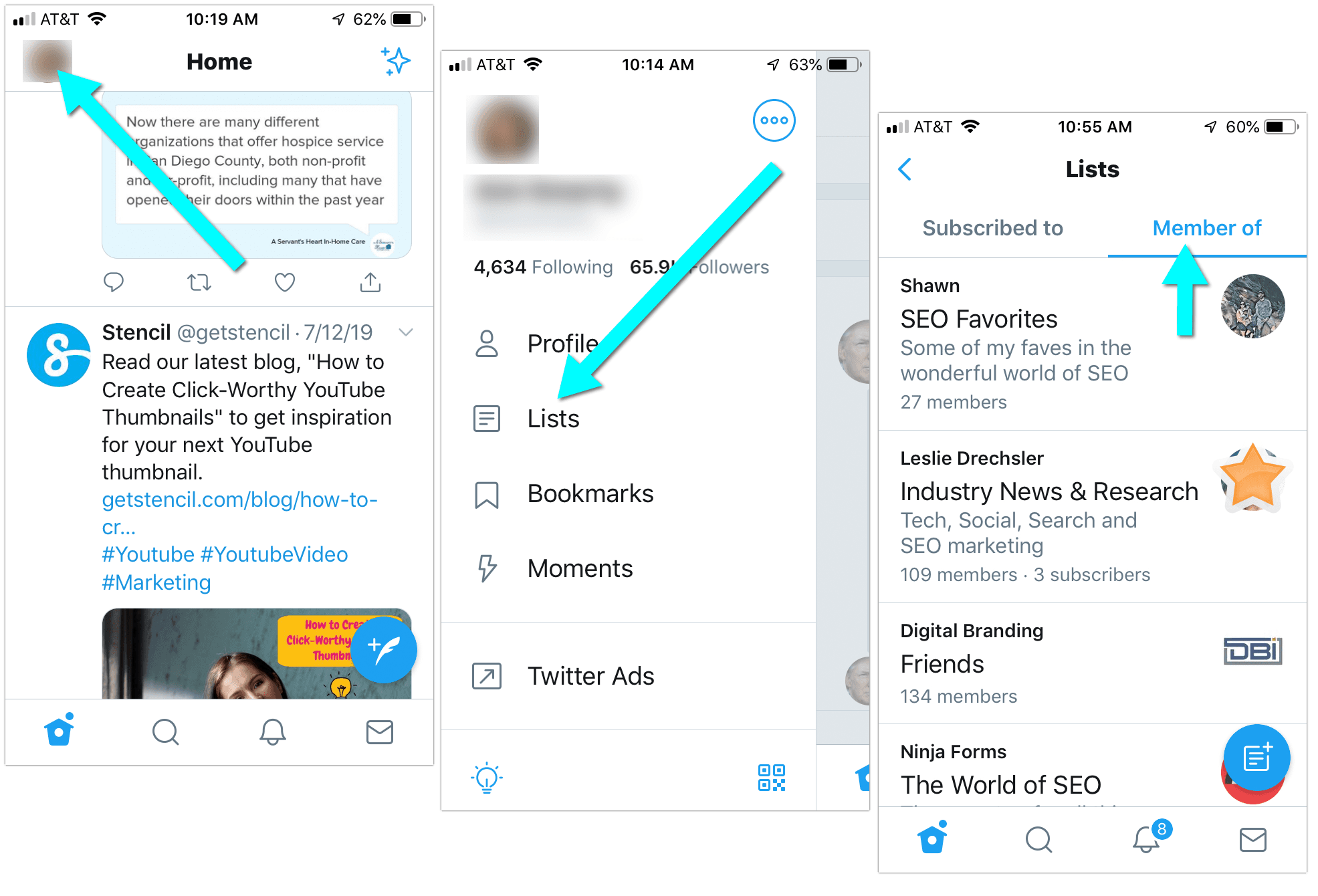 How to Find out What Twitter Lists You Are On (Mobile)