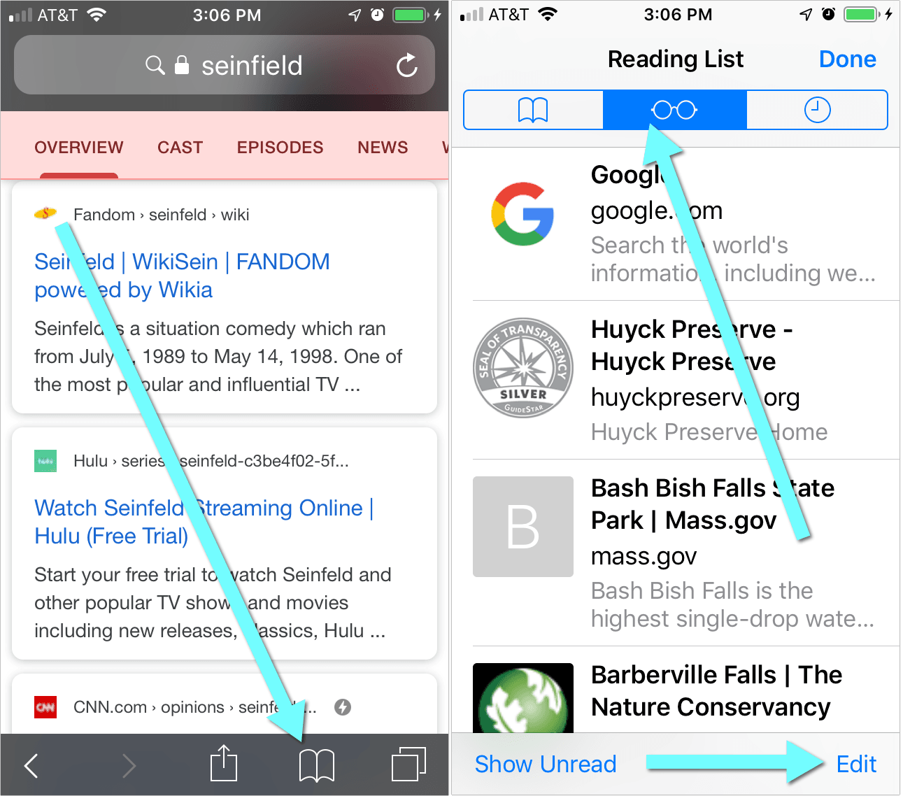 Access Your Reading List on iPhone