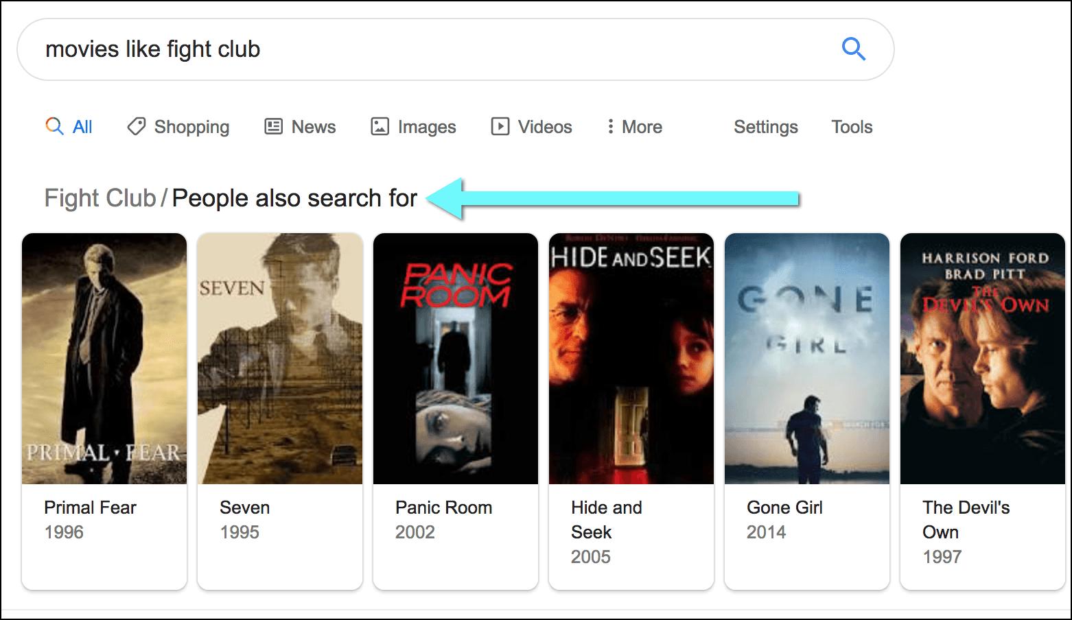Google [movies like] search