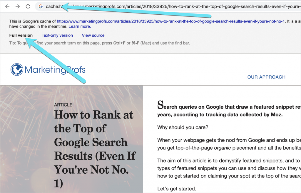 Google's cache of a page is its saved copy. You can use it to get behind the paywall