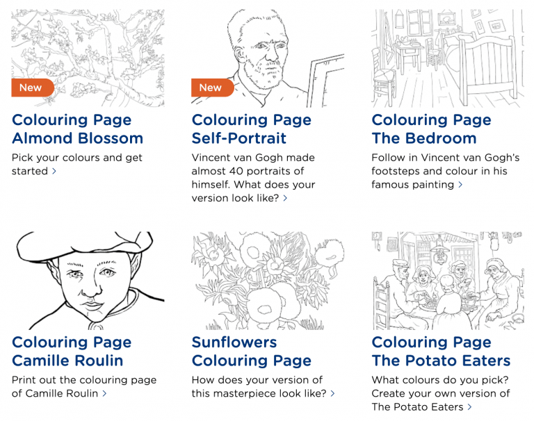 How to Download Free Printable Coloring Pages from Museums Around the World