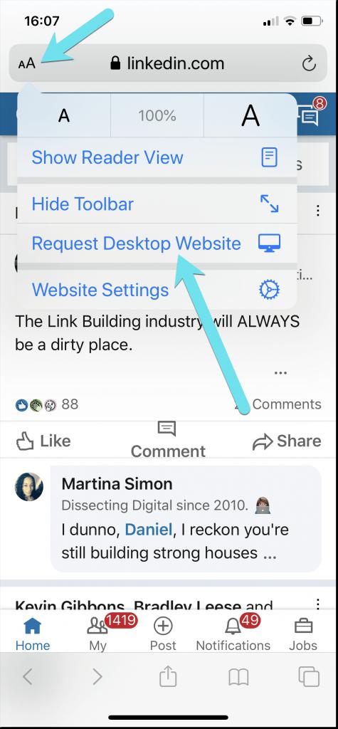 Linkedin Full Site