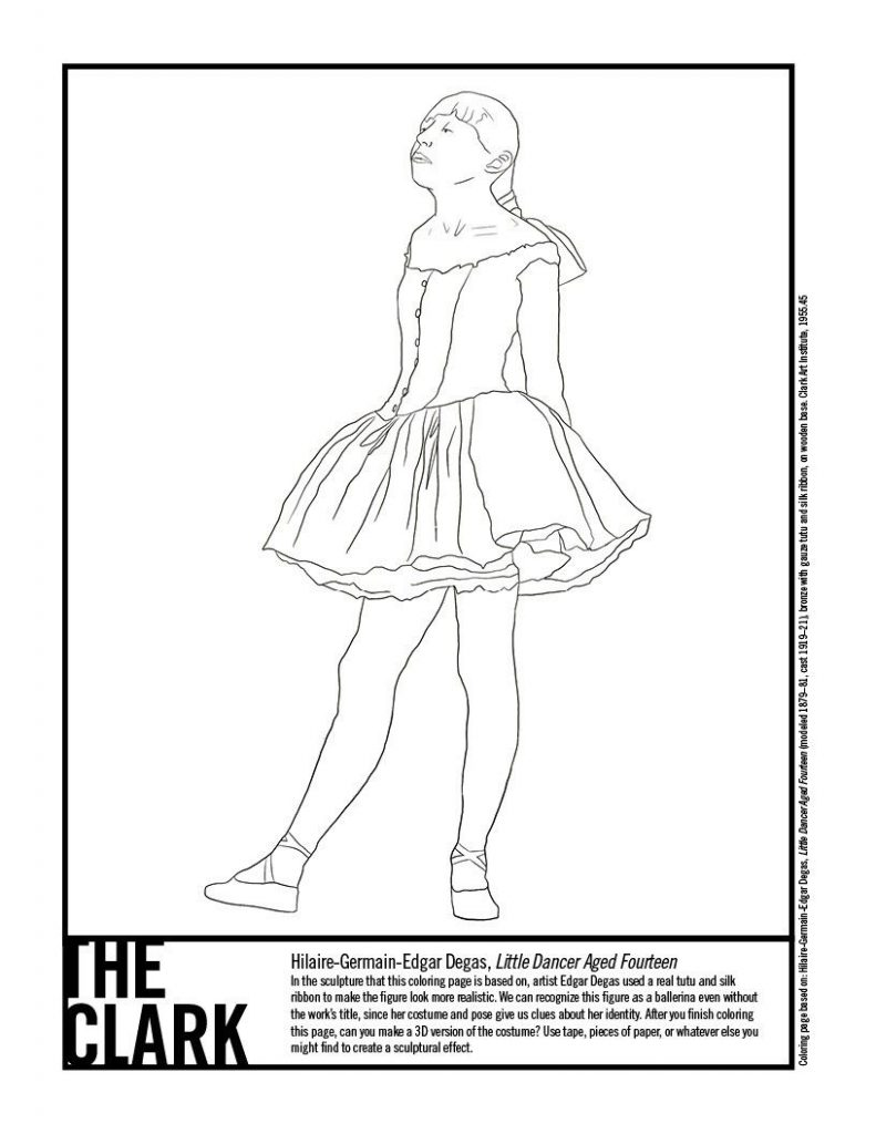 Degas coloring book (Little Dancer)